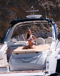 Naughty teenager with tiny tits fucking in luxurious boat