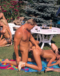 Three crazy chicks go to a picnic and end up fucking hard