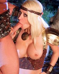 Busty blond Jazy Berlin get hard pounding outdoor sex