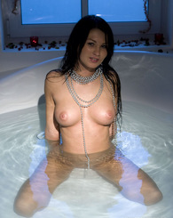Antonia nice tit babe plays in the jacuzzi and shows boobs