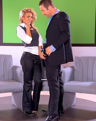Tight little blond Aubrey Addams gets handled by a studly cock