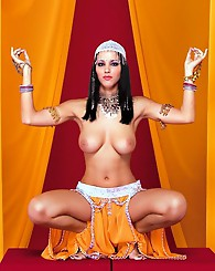 Hot babe Angel Dark in oriental double penetration action