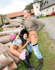 Young horse riding chick shagged by her horny boyfriend