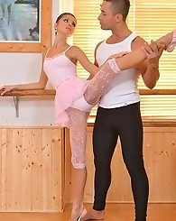 Gina ballet teacher footjob